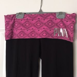 Pink! Victoria's Secret Fold over yoga pants